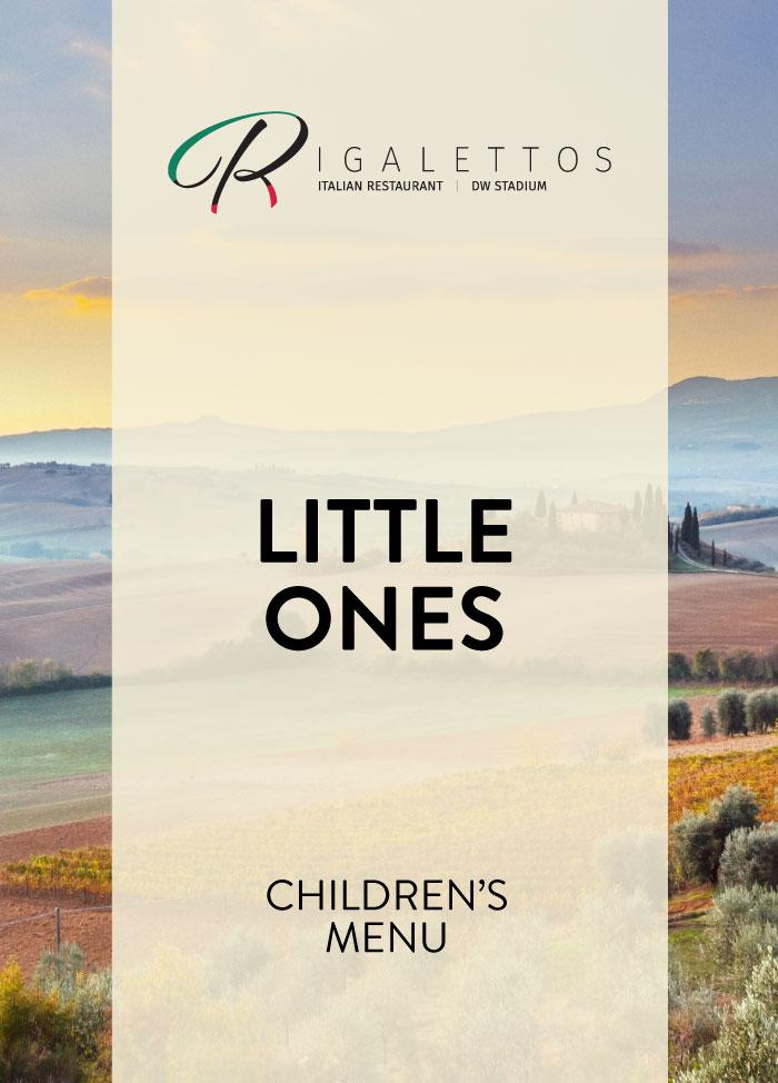 Little Ones: Children's Menu