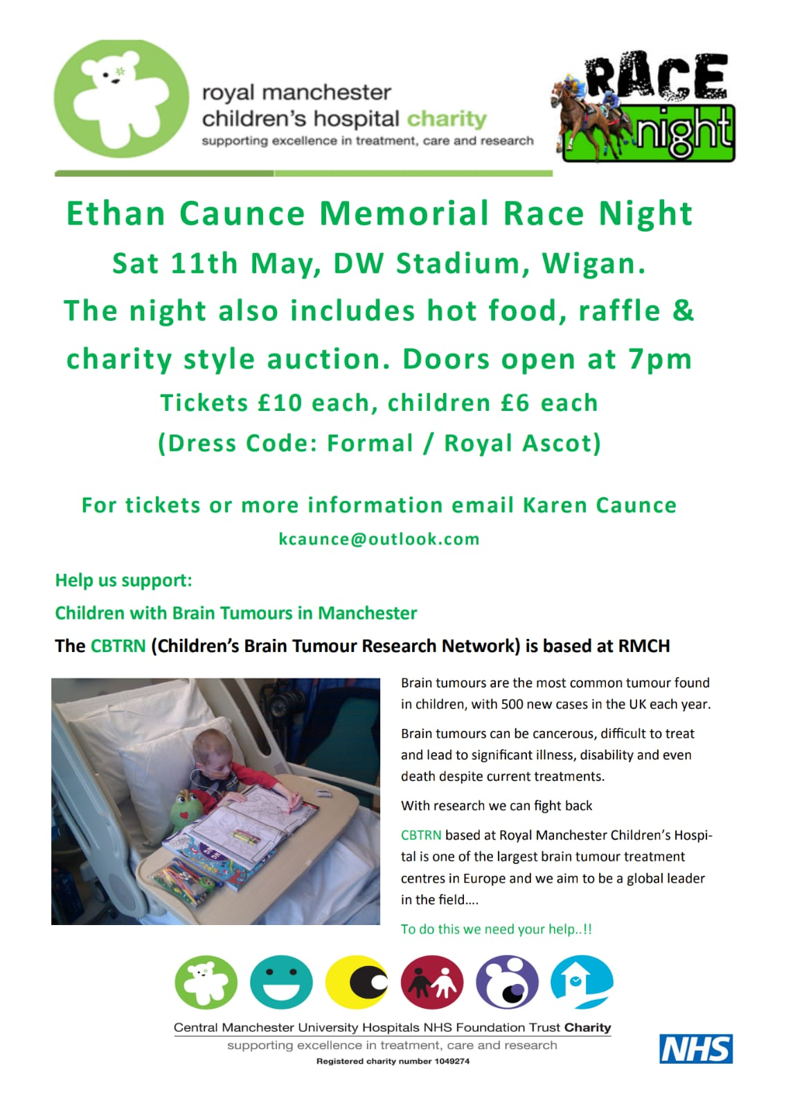 RACE NIGHT IN AID OF ROYAL MANCHESTER CHILDREN'S HOSPITAL – DW Stadium