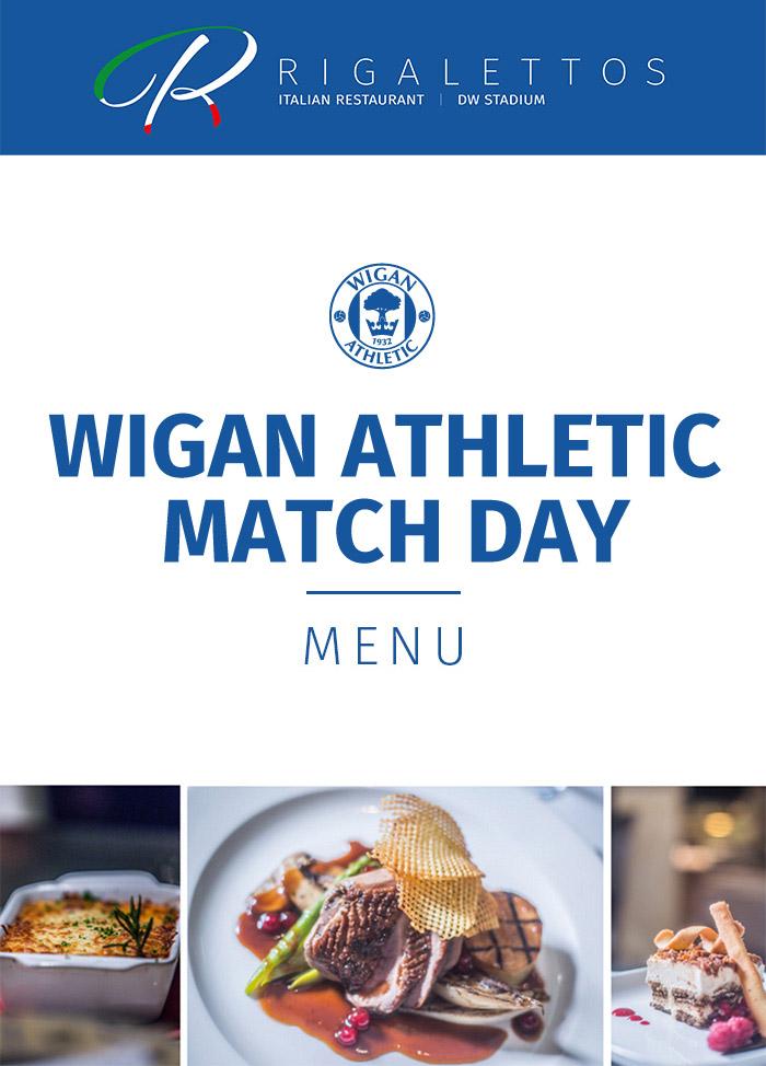 Rigalettos Match Day menu